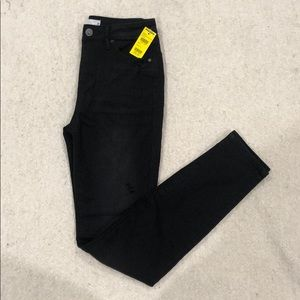 Tillys High Rise Black Ripped Jeans